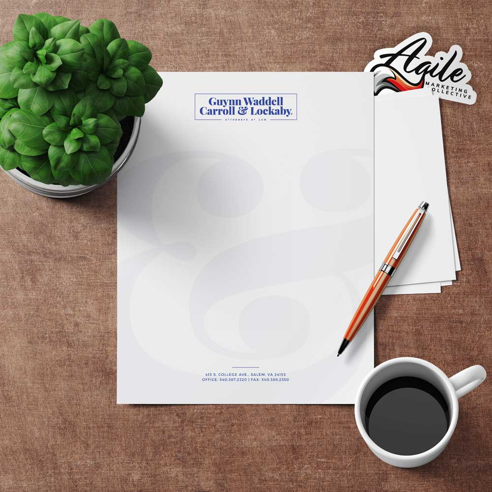 Letterhead laying on a desk