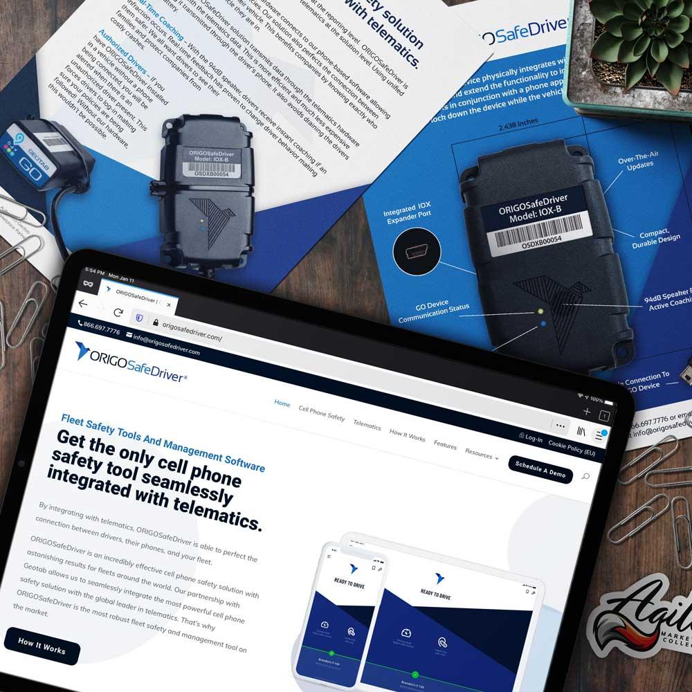 ORIGOSafeDriver website and print materials