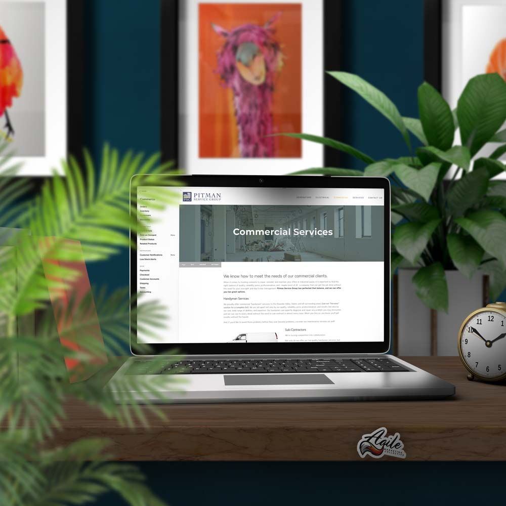 Editing the e-commerce section of a Squarespace website