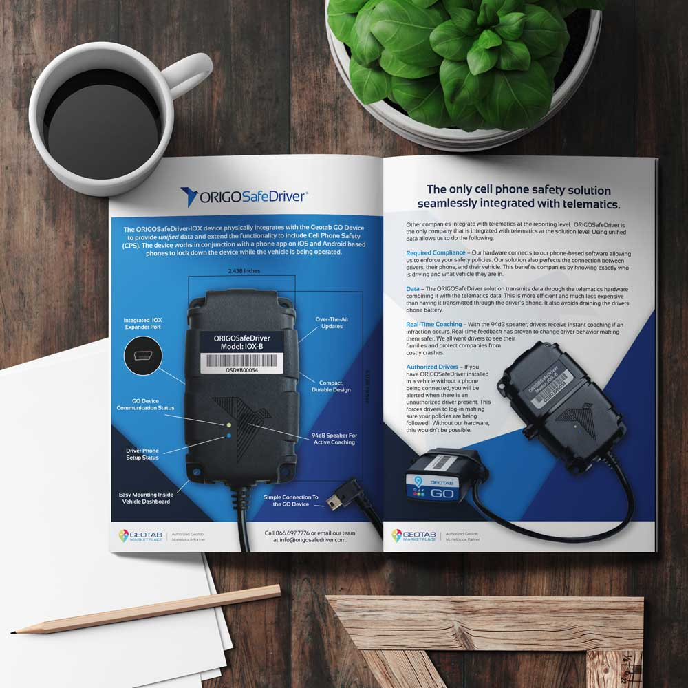Magazine with product photo